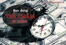 phi phat tra cham the tin dung fe credit
